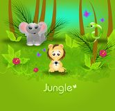 Jungle background template Stock Photo