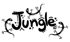 Jungle banner Royalty Free Stock Image