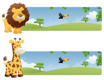 Jungle Banners Royalty Free Stock Photography