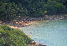 Jungle Beach Unawatuna Stock Image