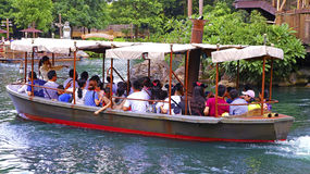 Jungle boat ride at disneyland hong kong Stock Photo