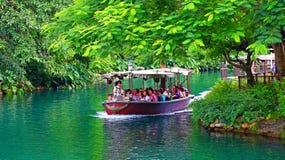 Jungle boat ride at disneyland hong kong Stock Images