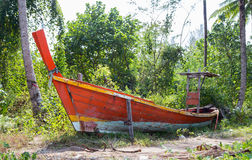 Jungle and boat wreck Royalty Free Stock Images