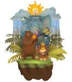 Jungle_Boy Vektor Illustrationer