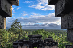 Jungle Buddist temple Borobudur complex in Yogjakarta in Java Stock Image