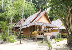 Jungle bungalow in Phi Phi island Stock Photos