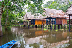 Jungle Bungalows on Stilts Royalty Free Stock Photography
