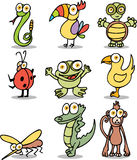 Jungle Cartoon Characters Royalty Free Stock Image