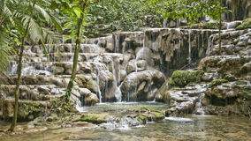 Jungle-cascade. Dreamful cascade in the jungle near palenque, Yucatan, Mexico royalty free stock photo