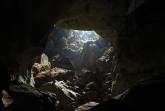Jungle cave. In the north of Laos Stock Photo
