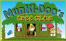 Jungle Characters for kids cartoon Royalty Free Stock Photos