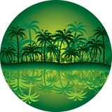 Jungle circle Stock Photography