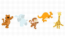 Jungle critters set Stock Photography