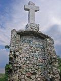 Jungle Cross. Cross on top of mountain in Mexico Stock Photos