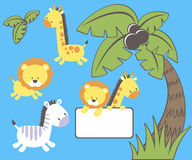 Jungle cute animals Stock Photo