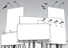 Jungle de panneau-réclame dans le vecteur illustration stock