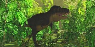 Jungle de tyrannosaure illustration stock