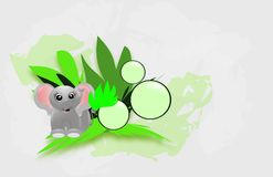 Jungle decorated background Royalty Free Stock Photos