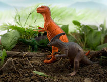 Jungle Dinosaur Stock Photography
