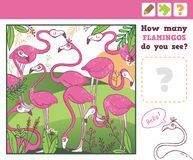 Jungle. Education Counting Game for Children. Royalty Free Stock Photos