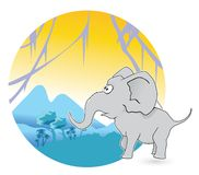 Jungle Elephant Stock Images