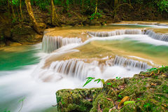 Jungle forest Waterfall in Kanchanaburi, Thailand Royalty Free Stock Images