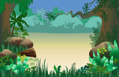 Jungle frame Royalty Free Stock Image