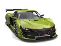 Jungle green fast super sports car Stock Photo