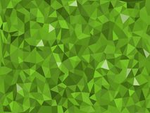 Jungle -green triangular pattern - triangles mosaic Stock Photos