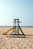 Jungle Gym on the Beach Stock Images