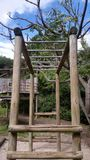 Wooden Children's Jungle Gym royalty free stock image