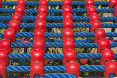 Jungle gym ropes in playground. Royalty Free Stock Photos