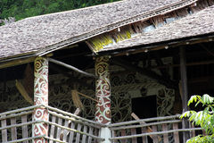 Jungle House Detail Borneo Stock Photography