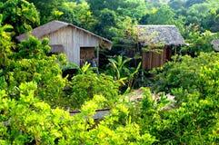 Jungle huts. Traditional jungle bamdoo huts in siem reap cambodia Royalty Free Stock Photography