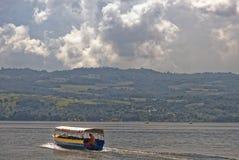 Jungle lake boat Stock Photography