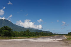 Jungle landing strip Stock Photos