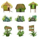 Jungle Landscape Elements Set Stock Image