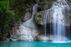 Jungle landscape with Erawan waterfall. Kanchanaburi, Thailand Royalty Free Stock Image