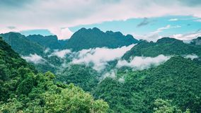 Jungle Laos Mountains Nature Clouds Forest
