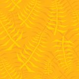 Jungle leaf seamless yellow pattern Royalty Free Stock Photos