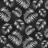 Jungle Leaves Drawing Pattern Royalty Free Stock Photo