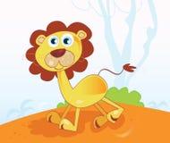Jungle lion. Safari animal in african jungle. Vector Illustration Royalty Free Stock Photo