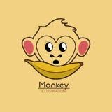 Jungle monkey cartoon emblem Stock Photos