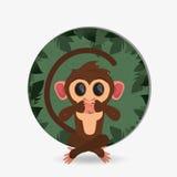 Jungle monkey cartoon emblem Royalty Free Stock Photos