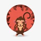 Jungle monkey cartoon emblem Stock Images
