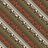 Jungle ornamnet. Abstract decorative jungle plants striped ornament. Seamless pattern. Vector Stock Images