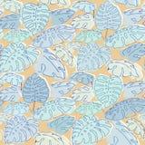 Jungle palm leaves pattern Royalty Free Stock Photo