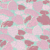 Jungle palm leaves pattern Royalty Free Stock Images