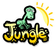 Jungle puppet Stock Images