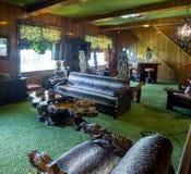 Jungle Room at Graceland. Jungle room at Elvis Presley's mansion, Graceland Stock Photo